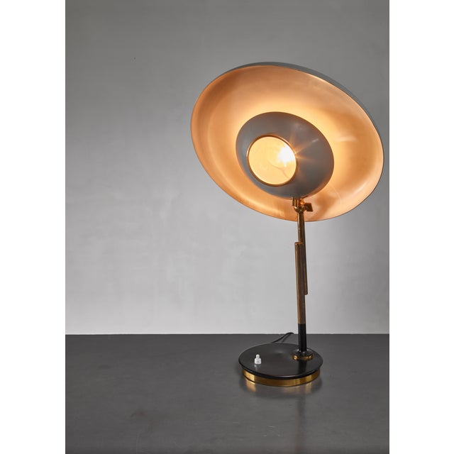 1950s Oscar Torlasco Model 555 Table Lamp for Lumi, Italy For Sale - Image 5 of 6