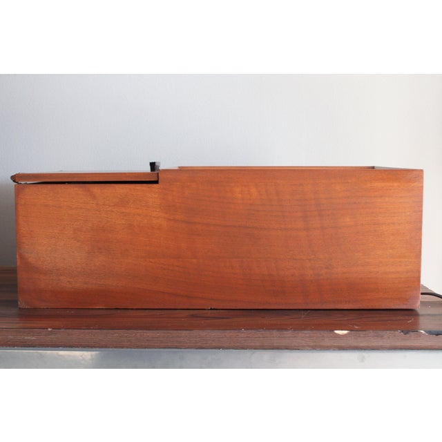 Brown Vintage Panasonic Solid State Amfm Transistor Radio Model #Re-7487 With Refinished Teak Cabinet For Sale - Image 8 of 10