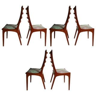 Danish Modern Teak Ladder Back Dining Chairs by Kai Kristiansen - Set of 6 For Sale