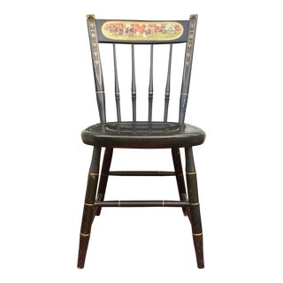 Nichols and Stone Co. Painted Wood Historic Chair For Sale