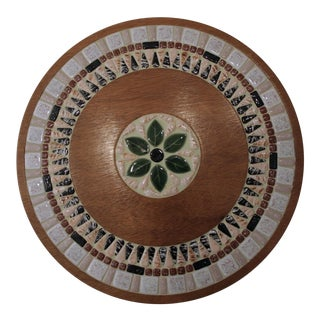 Tile Mosaic Round Tray For Sale