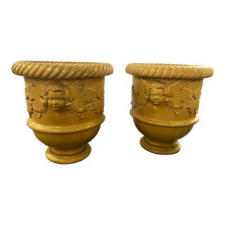 Italian Terra Cotta Pots a Pair For Sale