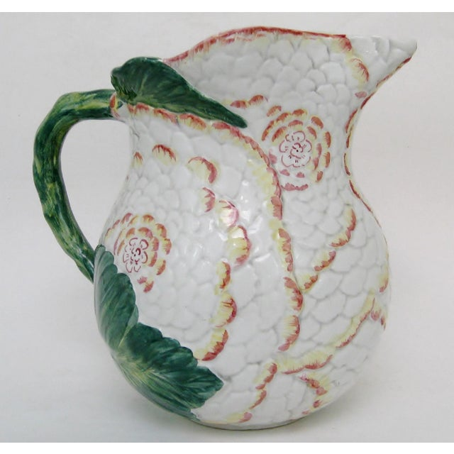 Italian Majolica Pitcher For Sale - Image 10 of 10
