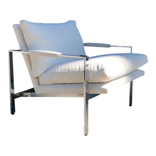 1960s Mid-Century Modern Milo Baughman for Thayer Coggin Chrome Lounge Chair