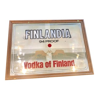 Finlandia Vodka Mirrored Sign For Sale