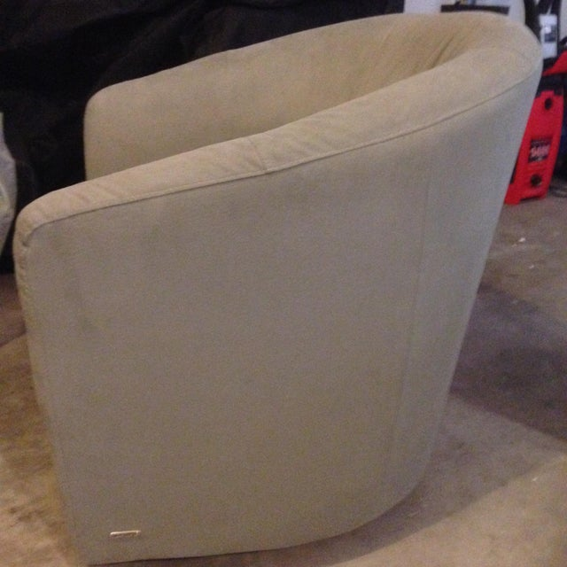 Contemporary Swivel Bucket Chairs - A Pair - Image 5 of 6