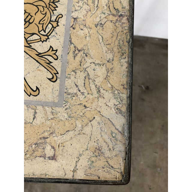 Mediterranean Tile Top Wrought Iron Side Table For Sale In West Palm - Image 6 of 7