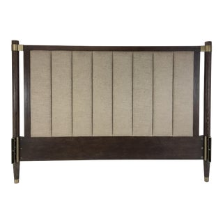 Hickory White Modern Taupe and Walnut King Headboard For Sale