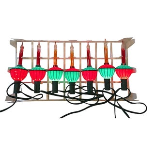 String of Bubble Lights in Orig. Box S/7 For Sale