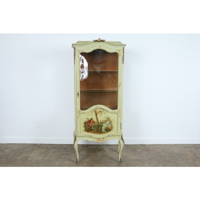1920 French Style Hand Painted Cabinet - Image 2 of 11