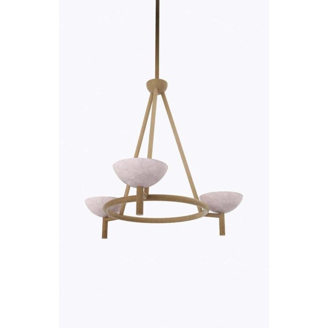 Orphan work 200A chandelier BB, 2020 Shown in alabaster with brushed brass Available in brushed brass and blackened brass...
