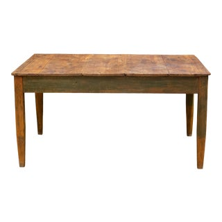 Mid 19th/Early 20th C. Primitive Farmhouse Table C.1850-1920 For Sale
