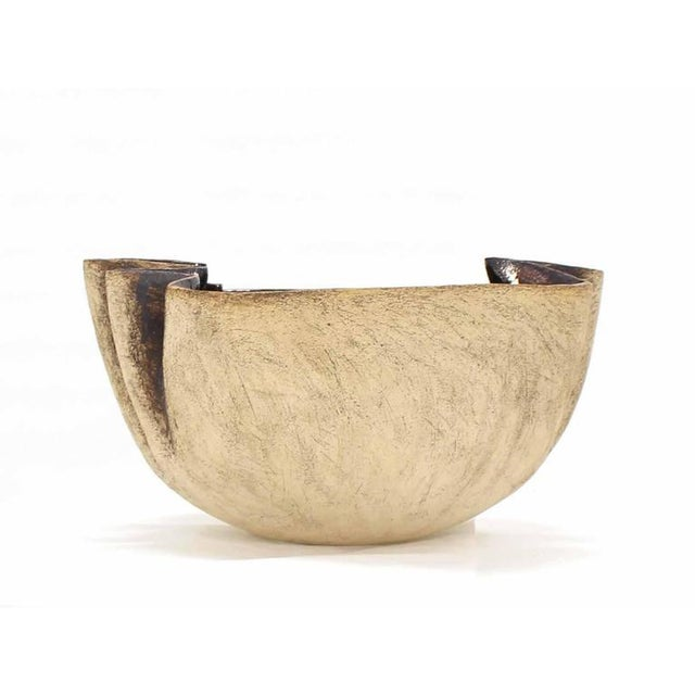Large Modern Art Pottery Bowl Artist Marked For Sale In New York - Image 6 of 8