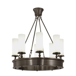 Oil Rubbed Bronze Ring Chandelier For Sale