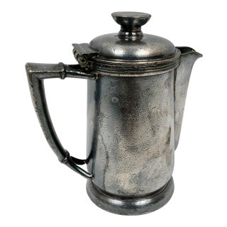 Vintage Hilton Hotel Silver Individual Coffee Pot For Sale