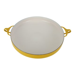 Vintage Jens Quistgaard Yellow Dansk Paella Pan For Sale