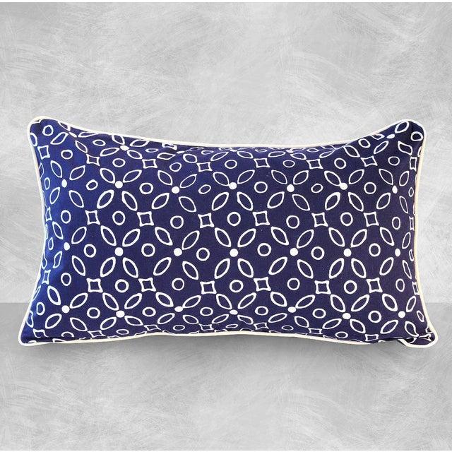 "Handmade ""Indigo Kawung"" Batik Pillow - Image 2 of 4"
