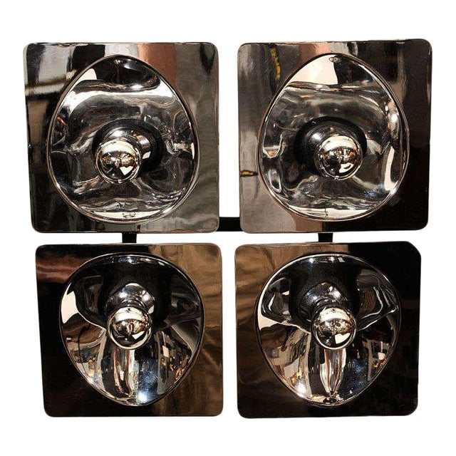 Modernist Four-Way Chrome Sconce & Wall Sculpture by Sciolari For Sale