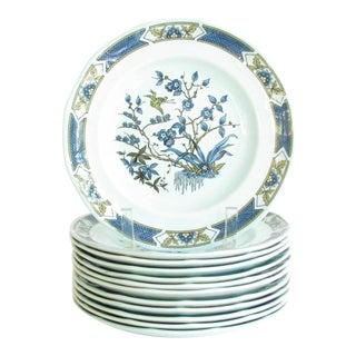 Vintage Adams Calyx Ware Blue Ming Toi Salad Plates - Set of 12 For Sale