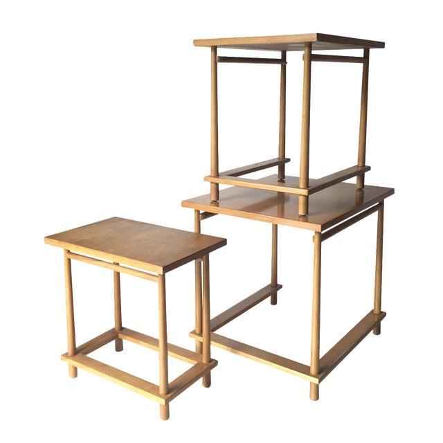 T.H. Robsjohn-Gibbings Nesting Tables - Set of 3 For Sale