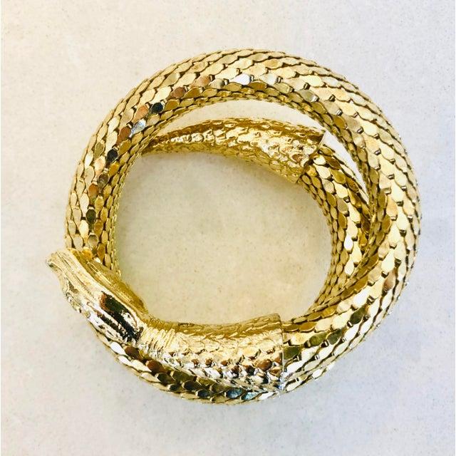 Whiting & Davis Whiting & Davis Gold Mesh Snake Bracelet For Sale - Image 4 of 9