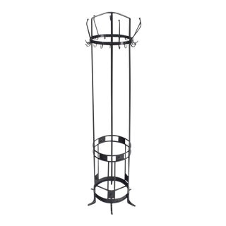 Early 20th Century Antique Wrought Iron Coat Rack / Umbrella Stand For Sale