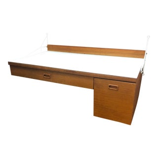 Wall-Mount Teak + Laminate Desk by Nils Strinning for String Design/Sweden For Sale