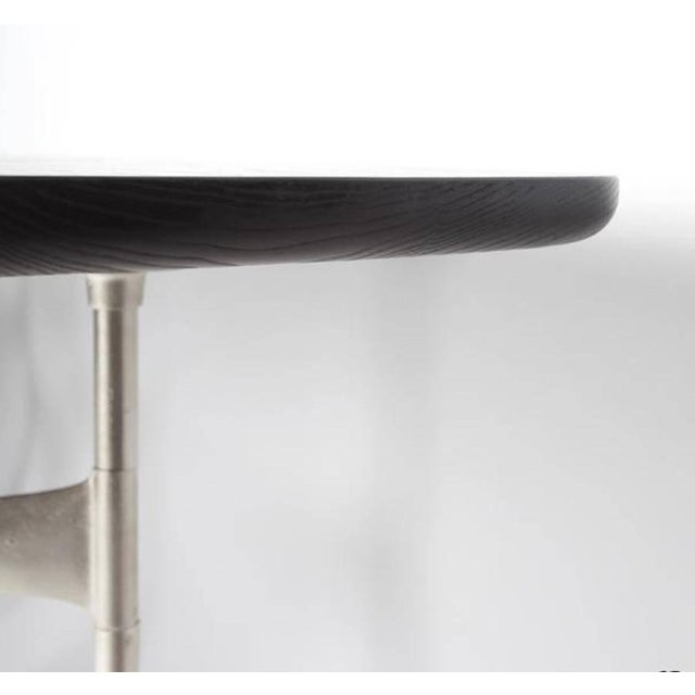 Link Dining Table Wood and Steel by AKMD Collection For Sale - Image 4 of 9