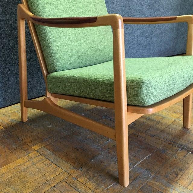 Light Green Mid-Century Modern Armchair - Image 4 of 7