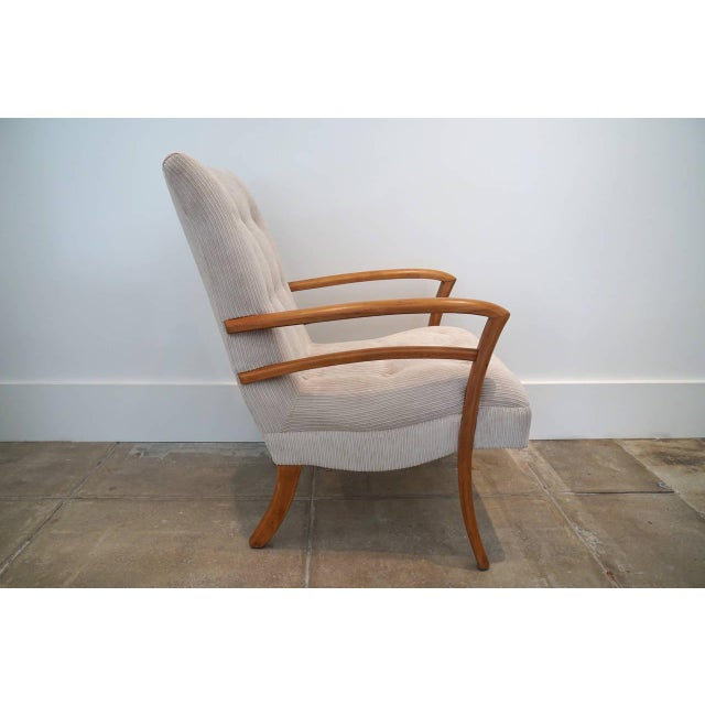 American Sabre Leg Armchair For Sale - Image 4 of 5