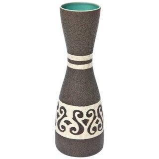 Austrian Glazed Mid Century Ceramic Vase or Vessel For Sale