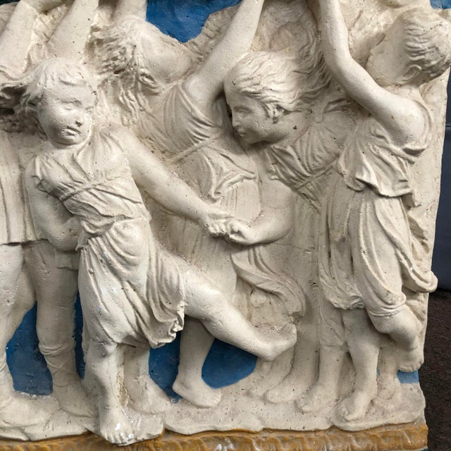 Early 20th Century Painted Frieze with Cherubs For Sale - Image 4 of 5