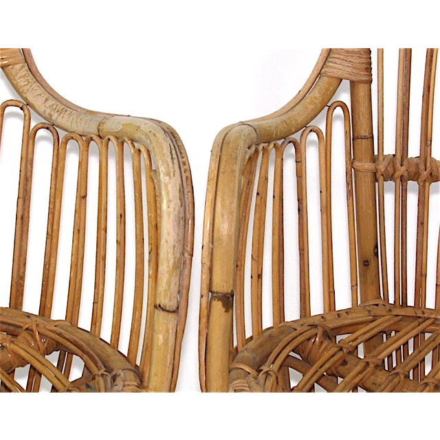 Franco Albini Style Rattan Chairs - A Pair - Image 10 of 11