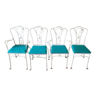Salterini Magnolia Group Iron Chairs - Set of 4