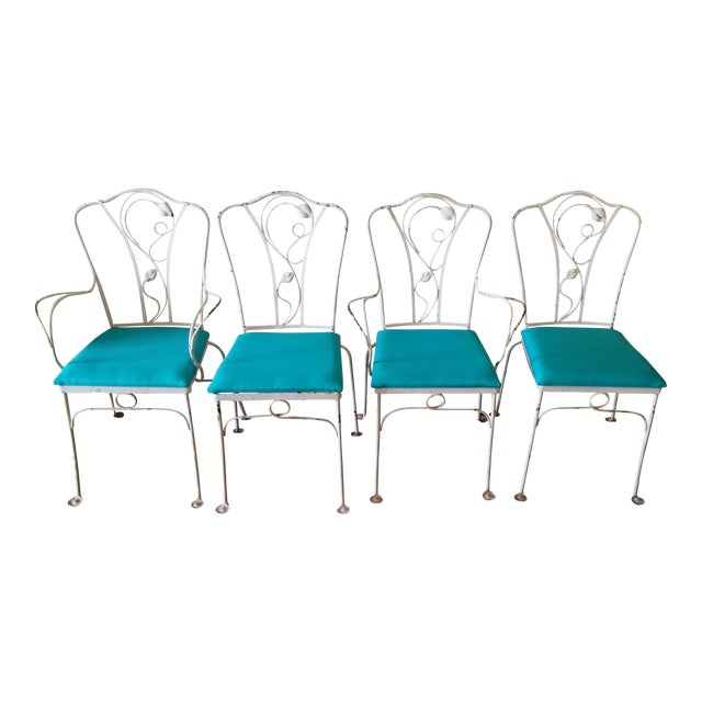 Salterini Magnolia Group Iron Chairs - Set of 4 For Sale