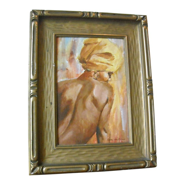 Vintage Oil Painting of a Creole Woman - Image 1 of 6