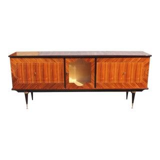 1940s Vintage Art Deco Light Macassar Ebony Sideboard For Sale