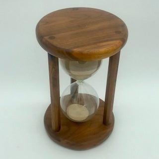 Mid Century Modern Walnut Hour Glass Preview