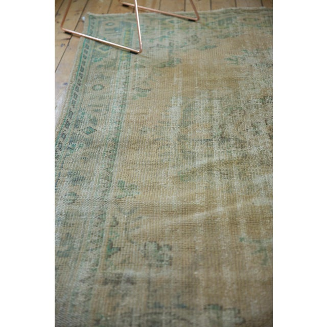 """Old New House Vintage Distressed Oushak Carpet - 5'8"""" X 8'3"""" For Sale - Image 4 of 12"""