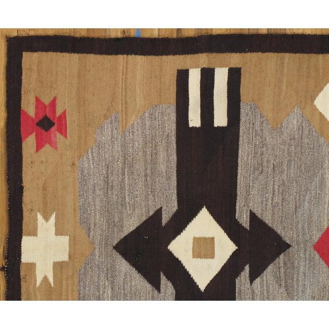 "Native American 20th Century Folk Art Navajo Carpet - 4'6""x7' For Sale - Image 3 of 9"