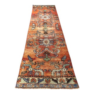 Turkish Handmade Hallway Runner Rug For Sale