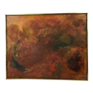 Yeffe Kimball 1962 Abstract Painting For Sale