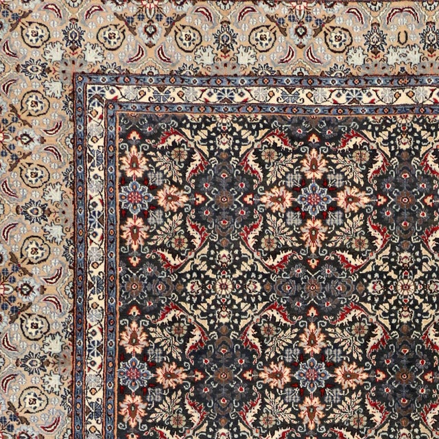 """Textile Vintage Persian Mashad Wool Rug - 8'5"""" X 11'2"""" For Sale - Image 7 of 7"""