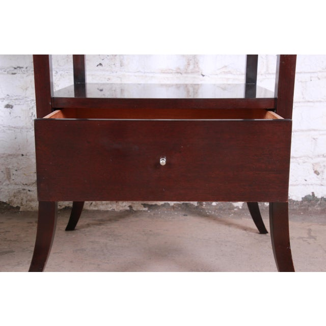 Wood Barbara Barry for Baker Furniture Dark Mahogany Étagères, Pair For Sale - Image 7 of 13