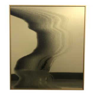 Gold Abstract Contemporary Modern Plexiglass Mirror For Sale