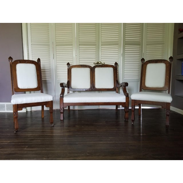 Boho-Chic Southwestern Antique Settee and Chairs For Sale In Chicago - Image 6 of 6