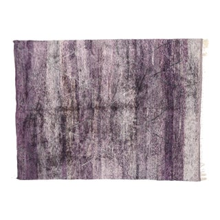 Contemporary Purple Berber Moroccan Area Rug - 10'04 X 13'07 For Sale