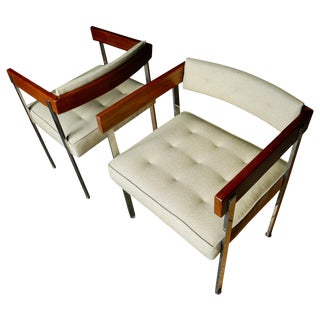 Mid-Century Modern Pull-Up/Side Upholstered Chairs by Harvey Probber For Sale