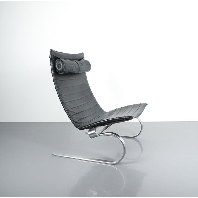 Poul Kjærholm Early Fritz Hansen Pk20 Lounge Chair in Black Leather, 1987 For Sale - Image 12 of 12