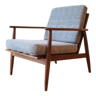 Newly Upholstered Viko Baumritter Walnut Armchair For Sale
